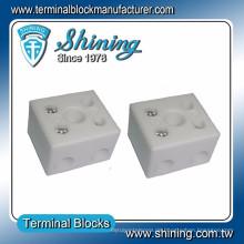 TC-652-A Hitzebeständiger 65A 2-poliger Porzellan-Video-Draht-Steckverbinder