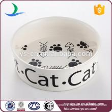 Atacado Baixo Preço Ceramic Cat Bowl
