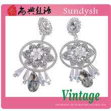 feiner Blumenkristallstein handgemachtes nettes und einfaches Entwurfskostüm Diamantohroberseiten 2014 Tendenzart und weiseschmucksache-Ohrringe Guangzhou