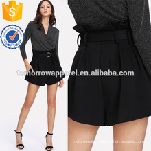 Self Belted Boxed Pleated Shorts Manufacture Wholesale Fashion Women Apparel (TA3014B)
