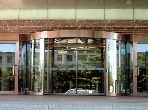 Load-bearing  Two-wing Revolving Doors With CE Certificate