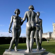 haute qualité femme nue sport casting bronze statue