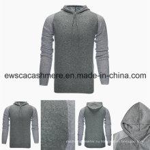 Мужская Толстовка Стиль Топ-класс чистый кашемир свитер с шляпа