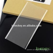 Alta qualidade Sem bolha Sem bordas brancas Anti choque 3D curvo protetor de tela de vidro temperado para Blackberry priv Fabricante
