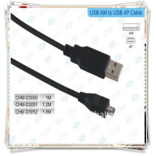 BRAND NEW Black USB 2.0 A male to mini B 4pin cable 1.8m