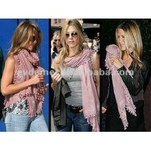 Модный оптовый леди pom pom scarf
