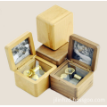 Rectangle Wooden Mini Music Box With Photo Insert