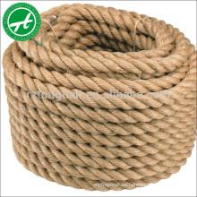 Cuerda 100% respetuosa del medio ambiente del yute de la cuerda del cáñamo para el macramé