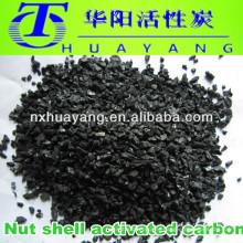 Carbón activado de cáscara granular de coco de 2-4 mm para filtración de agua potable