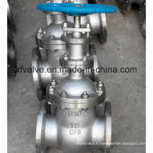 Valve DIN standard à acier inoxydable non soulevée