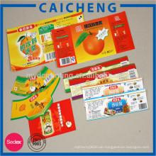 gedrucktes kundenspezifisches Nahrungsmittelaufkleberaufkleber