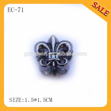 EC71 fashion shape metal rope end stopper,draw cord lock for clothing