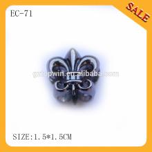 EC71 forma moda metal rolha de cabo de corda, bloqueio de cordão de tração para vestuário