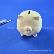 DIY Children Toy of Unpainted Cheap Ceramic Piggy Bank