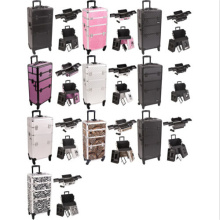 Organizer Trolley Aluminum Rolling Makeup Cosmetic Case (HX-A0733)