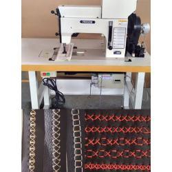 Sterowana kamerą Heavy Duty grubej nici Ozdobne przeszycia maszyny do tapicerki i tkanin skórzanych