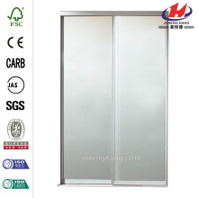 Brittany Steel White Mirrored Sliding Door