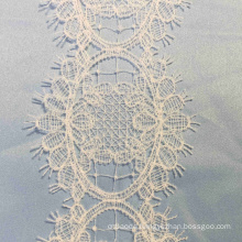 Ivory Eyelet Crochet Lace Border Trim