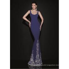 Spaghetti Blue Mermaid Evening Dresses