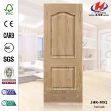 JHK-M01 Deux panneaux Rare Style Red Oak Veneer Door Skin