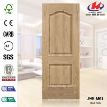 JHK-M01 Two Panels Rare Style Red Oak Veneer Door Skin