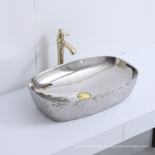 new design modern novel design art above counter basin ceramic