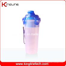 500ml botella de plástico Shaker de proteína con filtro y cordón (KL-7402)