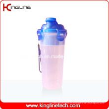 Bouteille de plastie à protéines en plastique de 500 ml avec filtre et cordon (KL-7402)