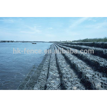 Rock cage river protection galvanized hexagonal galvanized gabion mesh box