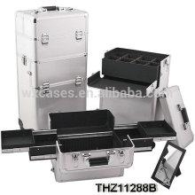professionelle Kosmetik Trolley Fällen können in 2 Teile-Kosmetik und kosmetische Trolley Fall aufgeteilt werden