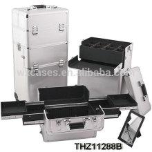 cas de chariot cosmétiques professionnels peuvent être divisés en 2 pièces-cosmétiques cas et valise trolley esthétique