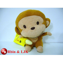 Meet EN71 and ASTM standard ICTI plush toy factory plush toy monkey with banana