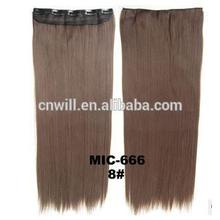 New Long Brown hair color #8 5 Clips black Hair Straight Clip On Hair Extensions 24inch 120grams For Party Gift