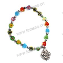 Fashion Colourful Heart Gemstone Religious Bracelet