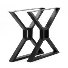 Patas de mesa modernas en forma de X en negro Patas de banco