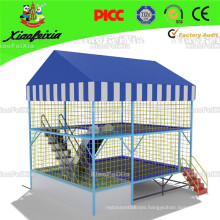Superb Designed Factory Price Crane Sports Trampoline with Pyramid