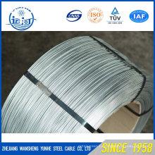 0,7 мм оцинкованная прочность на растяжение Высокая углеродистая стальная проволока