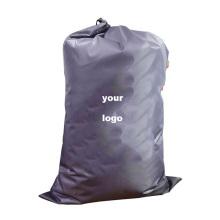 custom print logo portable hotel wash nylon laundry bag fold big drawstring laundry bags