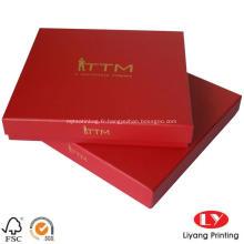Boîte d'emballage d'écharpe estampée à chaud avec logo
