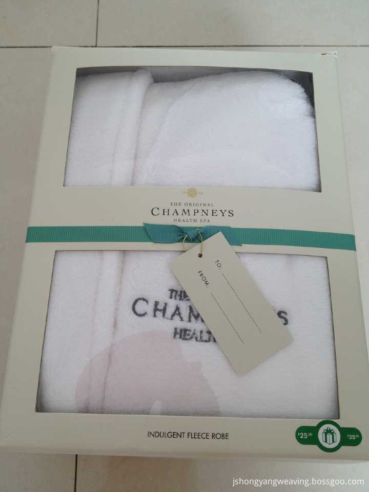 Box Fleece Shawl Bathrobe