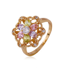 Xuping Luxury Flower Ring with Synthetic CZ