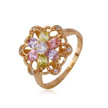 Кольцо из роскошного цветка Xuping с синтетическим покрытием CZ