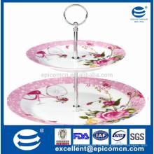 Porzellan 2 Kuchenständer Plätzchen Teller 2 Kuchenständer