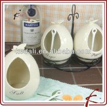 Frascos de armazenamento de especiarias de cerâmica com suporte