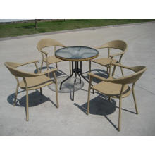 Pila clásica Rattan muebles de comedor al aire libre