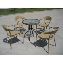 Pile classique rotin meubles de repas en plein air
