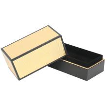 Caja de embalaje de papel de vela rígida configuración de oro