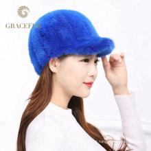 Chapéus de pele de vison usados diariamente para venda estilo russo