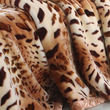 Animal Printed Mink Blanket for Camp