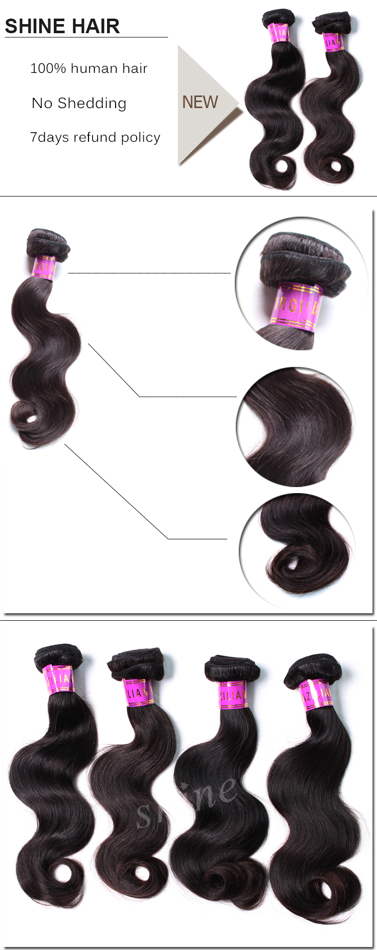 10a human hair body wave